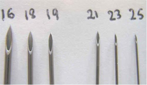 FUE hair transplant needle size